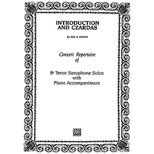 Introduction And Czardas B-Flat Tenor Saxophone Solos (With Piano Accompaniment)