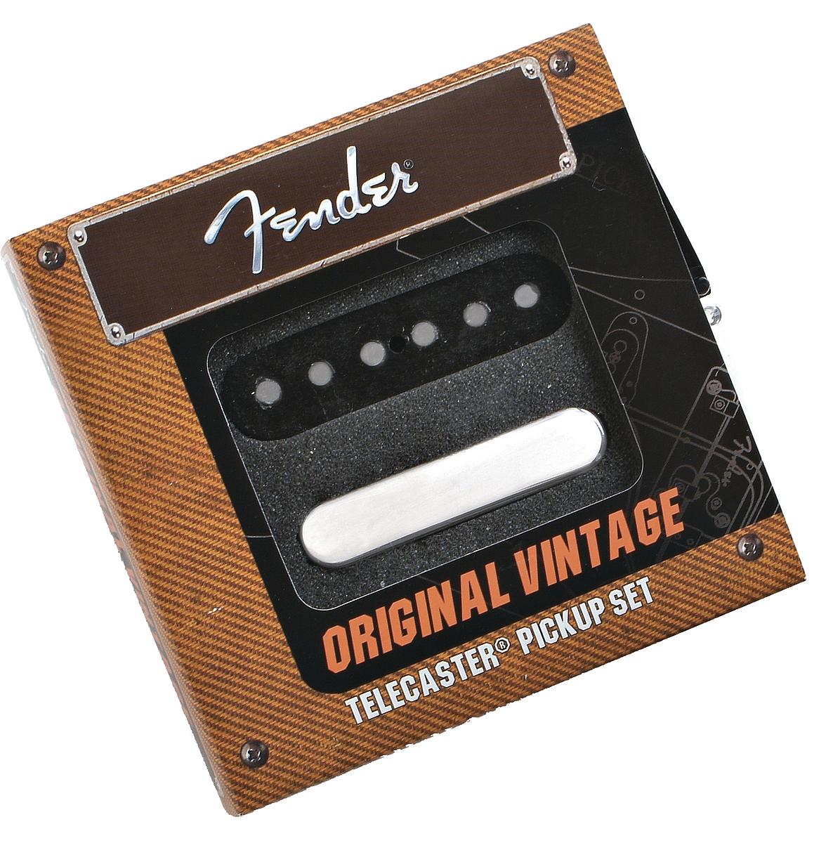fender original vintage telecaster tele guitar pickups set 2 neck bridge ebay. Black Bedroom Furniture Sets. Home Design Ideas