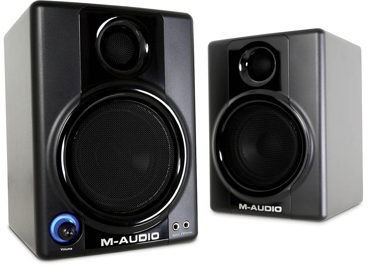 M-Audio Studiophile <b>AV 30</b> Compact Monitor Speakers (Pair <b>...</b>