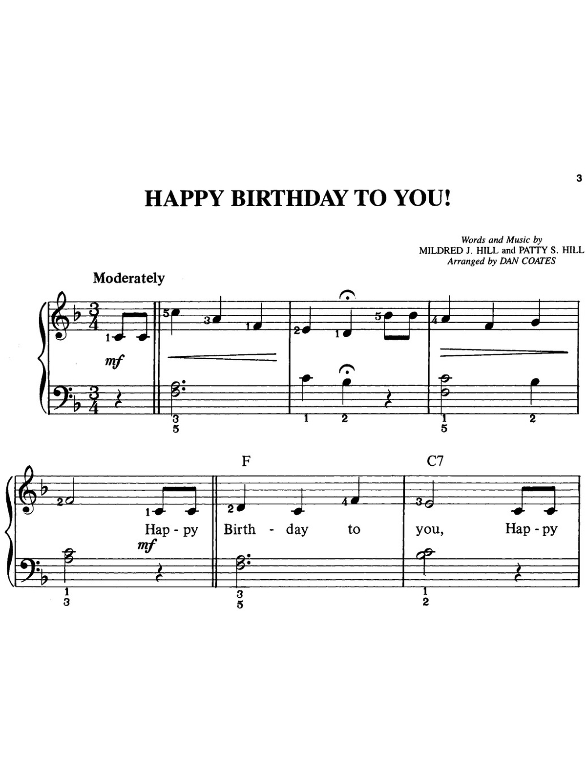 Happy Birthday Sheet Music Pictures to pin on Pinterest