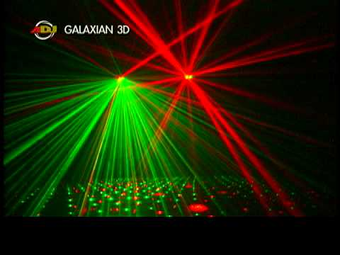American DJ Galaxian 3D DJ Laser Effect - Video Demo