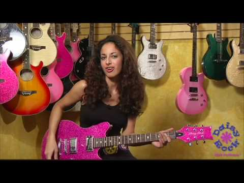 Daisy Rock Atomic Pink Siren Electric Guitar - Video Review and Demo