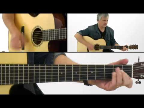 Guitaristics: Rhythm Guitar Lesson - #23 Rock Ballad 16ths Performance - Laurence Juber