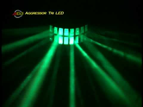 American DJ Aggressor Tri LED Special Effects Light - Demo Video