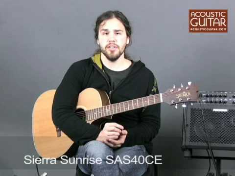 Sierra Sunrise SAS40CE Acoustic-Electric Guitar - video review