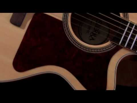 Sierra Tahoe SJS98CE Jumbo Acoustic-Electric Guitar - video review