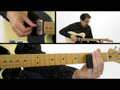 Slide Guitar Lesson - #19 Red Guitar - David Hamburger